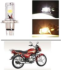 AutoStark Bike CYT Double Sided Headlight LED H4 White and Yellow- Hero Splendor Plus