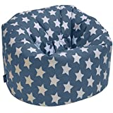 from Gilda CHILDRENS BEANBAG - Kids Prints Bean bag Chair Seat (Graphite Stars)