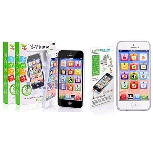 Preisvergleich Produktbild SystemsEleven SPIELZEUG Handy Baby Kinder Y-Phone Bildungs Lernen Kinder iPhone Spielzeug 4s 5 Geschenk - Y Handy Schwarz