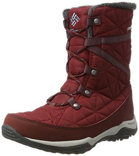 Columbia Damen Loveland Mid Omni-Heat Schneestiefel, Rot (Red Element, Mountain), 38 EU
