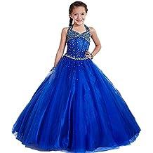 KekeHouse® lungo Bambina Fiore Abiti Per sposa paillettes perline Applique  Bambini si veste Vestito della 919da26bfc8