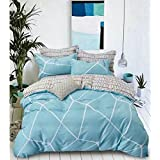 All Season Rich & Premium Elegant And Attractive Design 100% Pure Cotton Monacco King Bedsheets (250*275 Cms) King Size With 4 Pillow Covers First Time Attarctive Designs