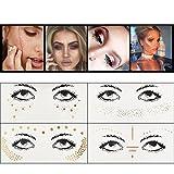 Visage Tatouages, Kapmore Glitter à La mode Visage Tache De Rousseur Autocollant Visage Tatouages Temporaires Tatouages Art Visage