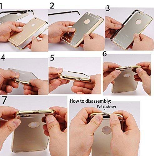 Cover iphone X, Sunroyal Lusso Shock-Absorption Bumper e Anti-Scratch Custodia in Alluminio PC Acrilico in Metallo Specchio Back Case protettiva shell per Apple iphone X 5.8 - Nero Modello 01