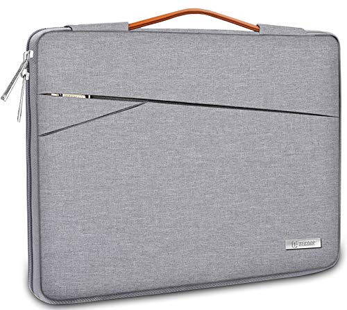 TECOOL 14 Inch Laptop Sleeve Protective Case cover Carrying Bag with Handle and Accessory Pocket for 14'' Huawei Lenovo Dell HP Acer ASUS Netbook Ultrabooks, Grey