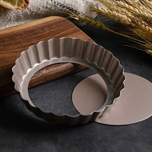Live Bottom Heart Shaped Backblech Backform | Antihaft-Pizza-Backblech-Frucht-Turm-Form-Backwerkzeug geeignet für die Herstellung des Frucht-Turm-Nachtischs (größe : 12.5 * 3CM)