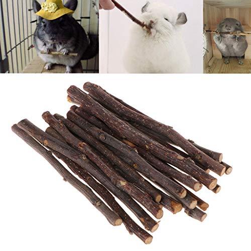 XMTPF Kaustäbchen, Apfelbaum, AST, Hamster, Eichhörnchen, Naturspielzeug, Papageien, Kaninchen, 20 Stück (Behandeln Taschen Kaninchen)