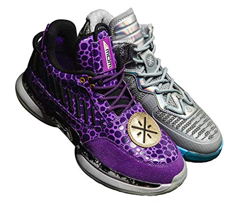 Li Ning Wow 7 Series Wade Herren Professionelle Basketballschuhe Herren Klassische tragbare Dämpfung Sport Sneakers ABAN079, (Remix Pack Wow 7 + Wow 1), 39 EU
