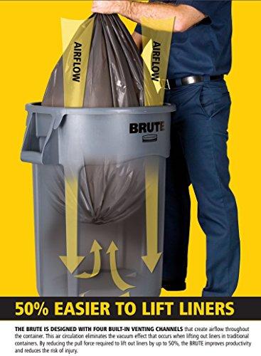 Rubbermaid Mehrzweck-Behälter - Inhalt 75 Liter - weiß - Konischer Behälter Kunststoffbehälter Kunststoffstapelbehälter Mehrweg-Behälter Mehrzweckbox Mehrzweckboxen Kunststoff-Sstapelbehälter - Bild 4