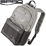 Spro Freestyle Backpack Classic Grey 27x42x13cm - Angelrucksack für Raubfischangler, Rucksack zum Streetfishing, Kunstködertasche