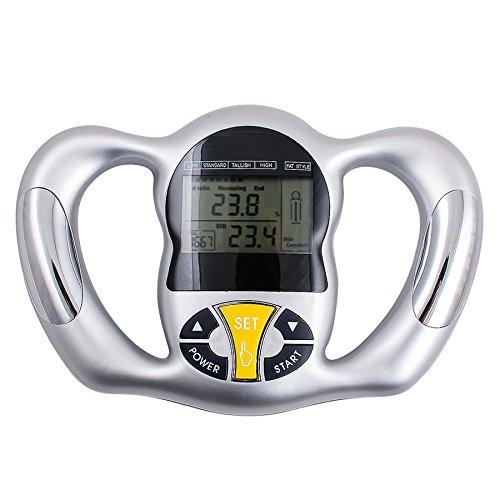 Trustskymall Elektronische Handgriff-Fettmessgerät-Körperfett-Messgerät Gesundheitsmonitor, Handgerät, für Körperfettanteil, BMI, Gesundheit, Fett-Analysegerät