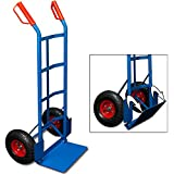 Diable chariot avec pelle pliante - max. 200 kg capacité de charge - roues pneumatiques