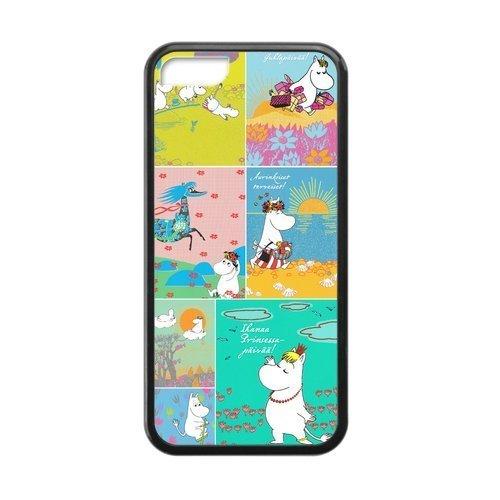 [] parfaitement ajustées pour iPhone 5C Motif, [Moomin] iPhone 5C coque Durable pour iPhone 5Case