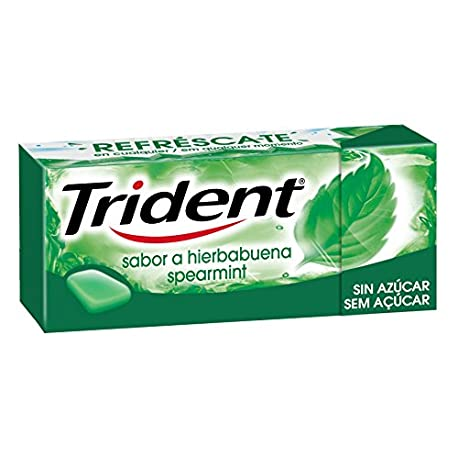 Trident Chicle Hierbabuena Sin Azucar 14 5 g