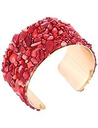 YouBella Jewellery Crystal Beads Studded Bangle Kada Bracelet for Girls and Women