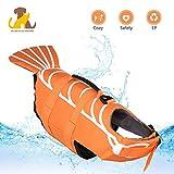Nwayd Hunde-Schwimmweste,einstellbar,Hundebadeanzug-Schwimmweste,Hundegeschirr-Weste-Sommer-Kleidung(Gelber Fisch)