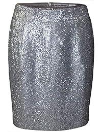 aecc38d6767f66 Ashley Brooke Pailletten Rock Gr. 42 Silber Abend Event Party Minirock