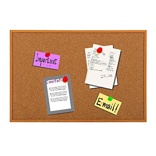 Kiefer-holz-rahmen (Pinnwand Kork mit Kiefer Holz Rahmen Bulletin Board Display Boards für neben Büro Schule Whiteboard vorgestellt 40*30 braun)