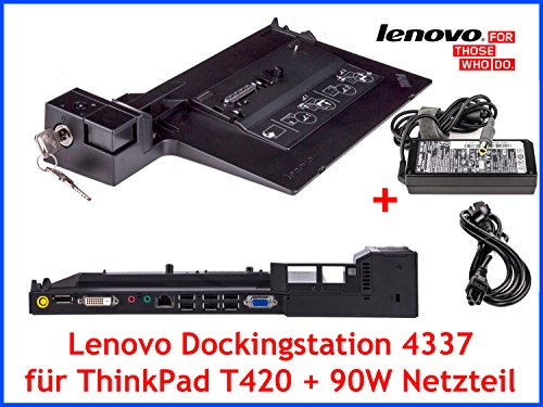 Original Lenovo Dockingstation 4337 + Schlüssel + 90W Netzteil für ThinkPad T420