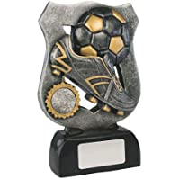 "Personalised 5.75"" Resin Football Ball andl Boot Trophy, Award, Engraved Free"
