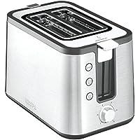 Krups KH442D10 Control Line Premium Toaster mit 6 Bräunungsstufen (720 Watt) edelstahl/schwarz