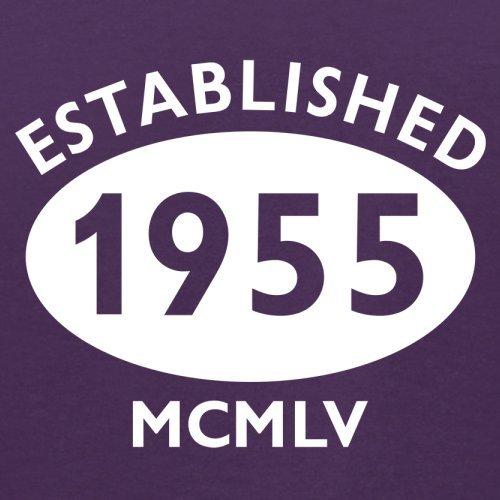 Gegründet 1955 Römische Ziffern - 62 Geburtstag - Herren T-Shirt - 13 Farben Lila