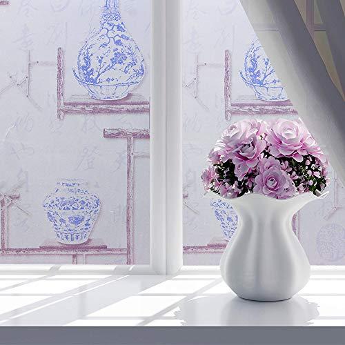 lsaiyy Peeling-Aufkleber transparent undurchsichtig Bad Bad Glasfenster Folie Tapete-45CMX5M
