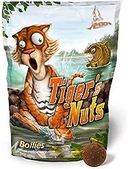 Quantum Tiger S Nuts Bouillettes 1kg, Carpe, noix de Angel, Leurre pour pêche à la carpe Leurre, Tigre Boilie Leurre de Leurre avec noix Tigre