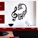 Ambiance-Live Wandtattoo Musiklehre - 90 x 100 cm, Bordeauxrot