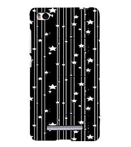 PrintVisa Lines And Stars Pattern 3D Hard Polycarbonate Designer Back Case Cover for Xiaomi Redmi Mi4i