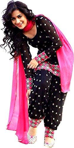 Best Offer Sale on Today in Panjabi Patiyala with Amazon Prime Day Rangrasiya Women\'s Cotton salwar suit Dress Material (Black_Cotton_Salwar_Suit)