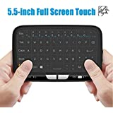 Meerveil H18 2.4GHz Mini clavier sans fil avec souris Touchpad for Android TV Box, Kodi,HTPC, IPTV, PC, PS3 ,Xbox 360, Raspberry Pi,NVIDIA SHIELD TV (2017 New Ver, Le premier clavier tactile complet)