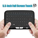Meerveil H18 2.4GHz Mini clavier sans fil avec souris Touchpad for Android TV Box, Kodi,HTPC, IPTV, PC, PS3 ,Xbox 360, Raspberry Pi,NVIDIA SHIELD TV (2017 New Ver, Le premier clavier tactile complet)