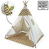 Moritz & Moritz Tipi - Colorido - Tienda para niños Tienda de Juegos Idea de Regalo - con Cubierta de Suelo y Ventana - para casa y jardín