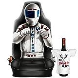 Themen-Sitzbezug/Autositz-Bezug cooles Motiv inkl. Mini-Shirt: Race Driver - geniales Geschenk