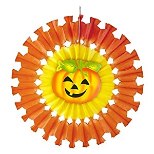 WIDMANN?Rosetón calabaza Unisex-Adult, Naranja, 48cm, vd-wdm95789