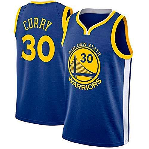 A-lee Men's Basketball Jersey - Golden State Warriors #30 Stephen Curry,Basketball Swingman Jersey Sportswear, Unisex Sleeveless T-Shirt (Blau -1, L) (Curry State Golden Warriors)