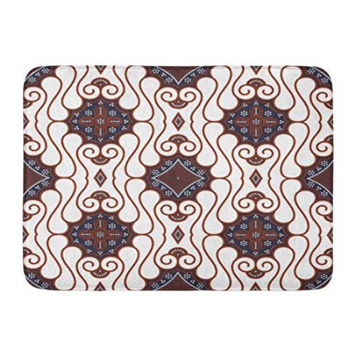 Soefipok Badematte Abstract Indonesia Brown Batik Pattern Java Clip Badezimmer Dekor Wolldecke