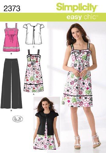 Simplicity Schnittmuster 2373 Freizeitkleidung Damen, Gr. 46-54 (Babydoll Kleid Empire)