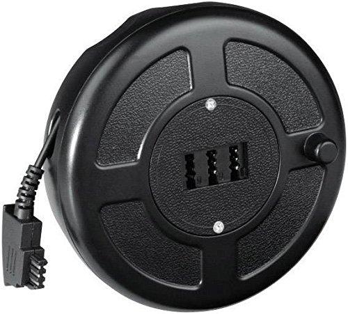 Hama Telefon (analog) Kabeltrommel [1x TAE-F-Stecker - 1x TAE-NFN-Buchse] 15m Schwarz