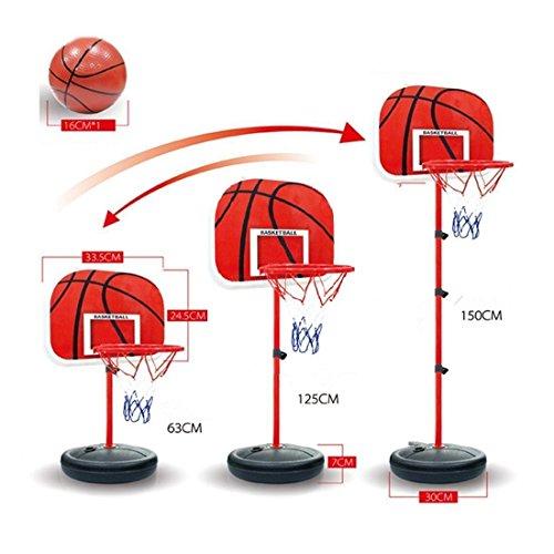 Paniers mobiles, CT-Tribe Un 63-150cm Panneau de Basket Plastique pour Enfant Panier Basket
