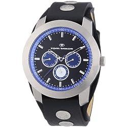 TOM TAILOR Herren-Armbanduhr XL Analog Quarz Leder 5412701