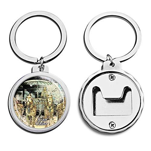 China Flaschenöffner Schlüsselbund Terrakotta Krieger Xi'an Mini Flaschenöffner SchlüsselbundKreativBuntstiftzeichnung Kristall Rostfreier Stahl Schlüsselanhänger Reise Souvenirs