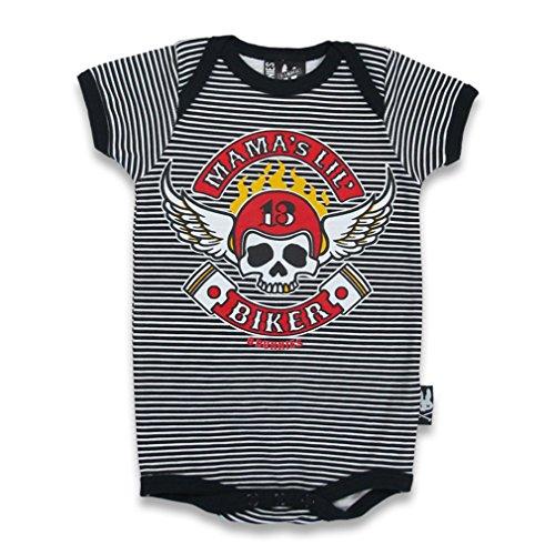 SIX Bunnies Baby Body geflü gelter Calavera–Mama 's Lil Biker Pelele negro negro Talla:0-3 meses