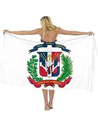 AMERICAN TANG Vestido de Pareo con Bandera de la República Dominicana