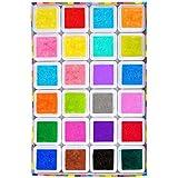 Elera 24colores lavable Craft–Almohadilla de tinta para sellos de goma de borrar tarjeta haciendo
