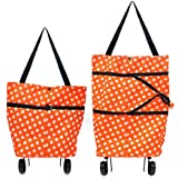 Vmoni Foldable Shopping Trolley Bag (Multi Color)