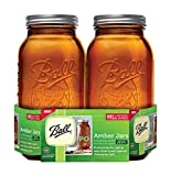 Ball - Wide Mouth Half Gallon Mason Jars Collection Elite Performance Series Amber - 2Pack