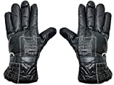 #10: Glovs For Gents / Black High Quality Soft Leather Winter Riding Gloves for Cycling Byke Bike Motorcycle for Men, Boys, Male Gents