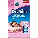 Huggies DryNites hochabsorbierende Pyjamahosen Unterhosen für Mädchen Jumbo Monatspackung, 8-15 Jahre (52 Stück)
